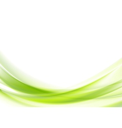 Vibrant green wavy design vector