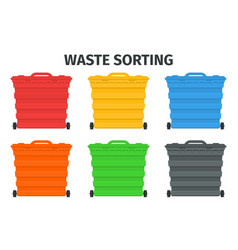 waste sorting and recycling sorting management vector image