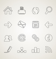 Web outline icon3 vector