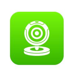 webcam icon digital green vector image