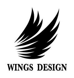 Wings design 5 vector