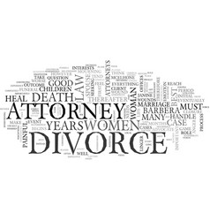 Women and divorce text word cloud concept vector