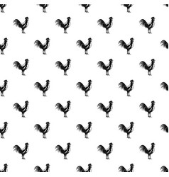 gallic rooster pattern vector image vector image
