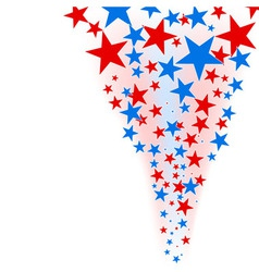 July 4th background stars flow vector image vector image