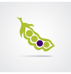 pea pod isolated on a white background vector image