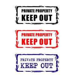 private property stamp vector image
