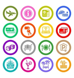 Recreation Travel Vacation icons vector image vector image