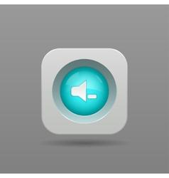 Speaker button vector image vector image