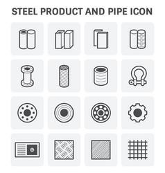 steel metal icon vector image vector image