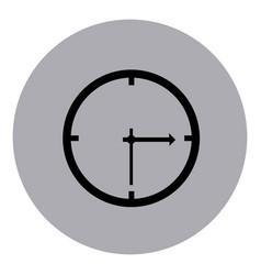 blue emblem sticker clock icon vector image vector image