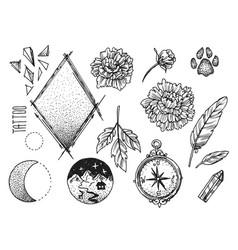 hand drwan sketch tattoo style vector image