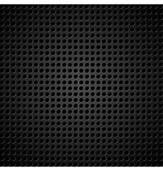 metallic background with holes vector image