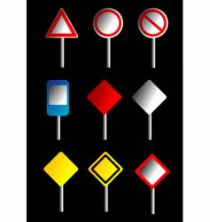 road signs design vector image