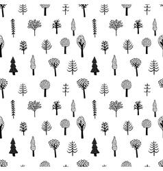 simple tree pattern vector image