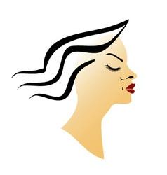 Beautiful lady vector image