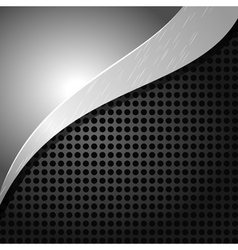 metallic background with holes and a wave vector image