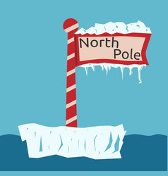 north pole sign vector image