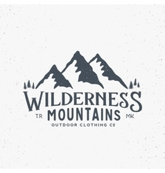 Wilderness mountains outdoor clothing vintage vector