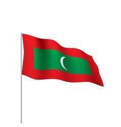 Maldives flag vector