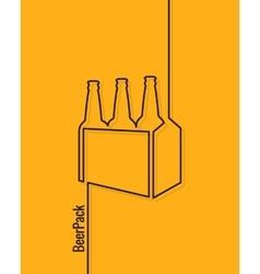 pack of beer bottles concept design background vector image vector image