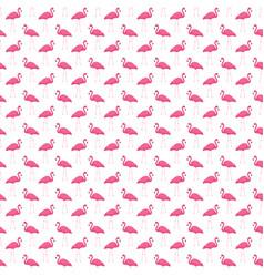 Pink flamingo seamless pattern summer tropical vector