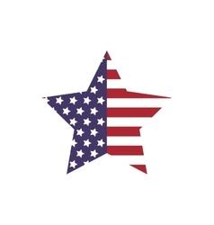 Star shape icon USA design graphic vector image