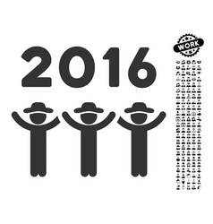 2016 guys dance icon with people bonus vector