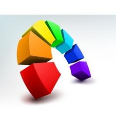 3d shape on white vector image