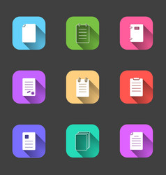 a set of flat icons of forms documents forms a vector image