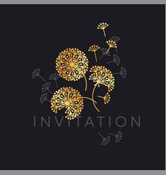 Abstract geometric dandelion flowers vector