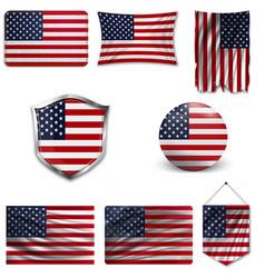 American grunge flag an american grunge flag vector