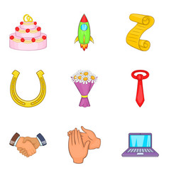 Applause icons set cartoon style vector