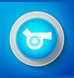 automotive turbocharger icon car turbocharger vector image