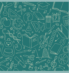 Back to school seamless pattern good for vector