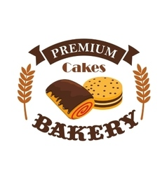 Bakery pastry shop busniess label emblem vector