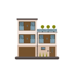 Bauhaus House Private Building vector