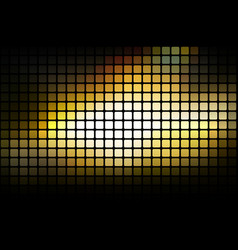 Black yellow white abstract rounded mosaic vector