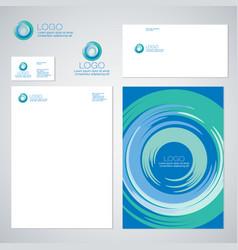 Blue whirlpool logo identity vector