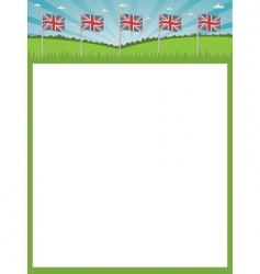 British flag poster vector image