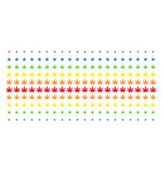 Cannabis shape halftone spectrum effect vector
