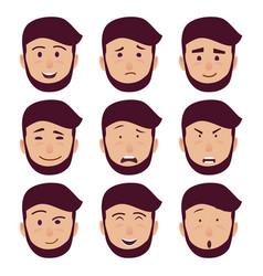 Cartoon characters emotions set vector