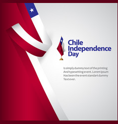 Chile independence day template design vector