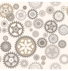 Clock cogwheels Retro Seamless pattern vector image