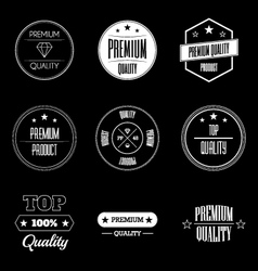 collection vintage product quality signs vector image