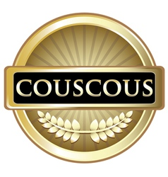 Couscous Gold Label vector image