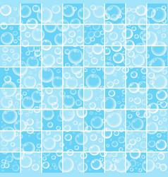 Cute baby wallpaper with bubbles on blue bathroom vector ...