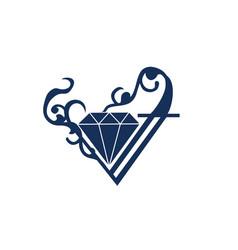 diamond logo ornament vector image