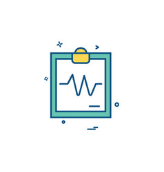 Ecg report icon design vector