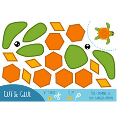 education paper game for children turtle vector image