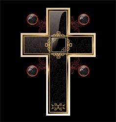 elegant cross vector image